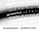 grateful word in a dictionary.... | Shutterstock . vector #1078911740