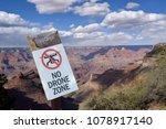 no drone flying sign in the...   Shutterstock . vector #1078917140