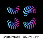 colorful abstract shape  modern ... | Shutterstock .eps vector #1078918544
