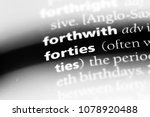 forties word in a dictionary.... | Shutterstock . vector #1078920488