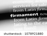 Small photo of firmament word in a dictionary. firmament concept