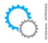 vector gears   cogs icon  ... | Shutterstock .eps vector #1078932626