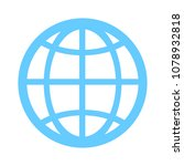 globe icon  earth planet  ... | Shutterstock .eps vector #1078932818