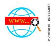 vector global network icon  ... | Shutterstock .eps vector #1078932854