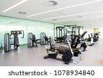 indoor fitness room | Shutterstock . vector #1078934840