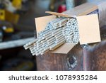 electrodes for electric welding | Shutterstock . vector #1078935284