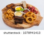 snacks to beer with sauces | Shutterstock . vector #1078941413