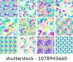 set of vivid fluid shapes... | Shutterstock .eps vector #1078943660