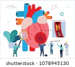 heart attack infographic.... | Shutterstock .eps vector #1078945130
