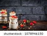 healthy summer breakfast idea ...   Shutterstock . vector #1078946150