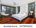 stylish master bedroom in... | Shutterstock . vector #107894633