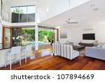 modern living room in luxury... | Shutterstock . vector #107894669