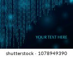 digital binary code zero one... | Shutterstock .eps vector #1078949390