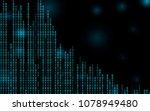 digital binary code zero one... | Shutterstock .eps vector #1078949480
