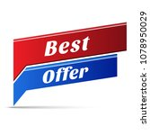 best offer vector web banner... | Shutterstock .eps vector #1078950029