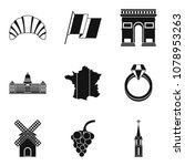booze icons set. simple set of... | Shutterstock .eps vector #1078953263