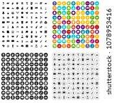 100 landmarks icons set vector... | Shutterstock .eps vector #1078953416