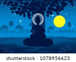 lord of buddha become... | Shutterstock .eps vector #1078956623