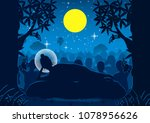lord of buddha was dead under... | Shutterstock .eps vector #1078956626