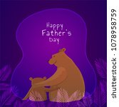 bear father and son duo on... | Shutterstock .eps vector #1078958759