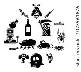fears phobias icons set. simple ... | Shutterstock .eps vector #1078961876