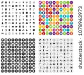 100 interior icons set vector... | Shutterstock .eps vector #1078963973