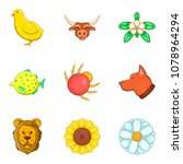 eternal nature icons set.... | Shutterstock .eps vector #1078964294