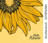 Sunflower Vector Background...
