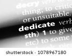 dedicate word in a dictionary.... | Shutterstock . vector #1078967180