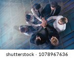 business people putting their... | Shutterstock . vector #1078967636