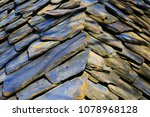 old stone roof detail | Shutterstock . vector #1078968128