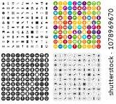 100 individual construction... | Shutterstock .eps vector #1078969670