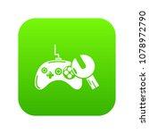 gamepad repairicon green vector ... | Shutterstock .eps vector #1078972790
