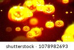 background with nice halloween... | Shutterstock . vector #1078982693