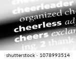 Small photo of cheerless word in a dictionary. cheerless concept