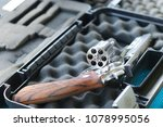 revolver gun. revolver open... | Shutterstock . vector #1078995056