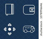 premium set of outline vector... | Shutterstock .eps vector #1078996646