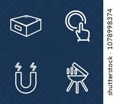 premium set of outline vector... | Shutterstock .eps vector #1078998374