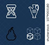 premium set of outline vector... | Shutterstock .eps vector #1079003180
