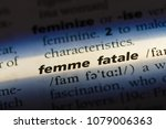 femme fatale word in a... | Shutterstock . vector #1079006363