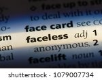 faceless word in a dictionary.... | Shutterstock . vector #1079007734