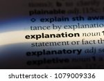 explanation word in a... | Shutterstock . vector #1079009336