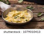 italian cuisine  ravioli pasta... | Shutterstock . vector #1079010413