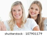 a couple of girls looking at... | Shutterstock . vector #107901179