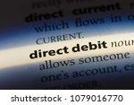 direct debit word in a...   Shutterstock . vector #1079016770