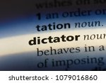 dictator word in a dictionary.... | Shutterstock . vector #1079016860