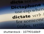 dictate word in a dictionary.... | Shutterstock . vector #1079016869