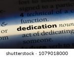 dedication word in a dictionary.... | Shutterstock . vector #1079018000