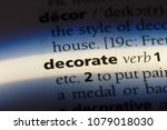 decorate word in a dictionary.... | Shutterstock . vector #1079018030