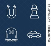 premium set of outline vector... | Shutterstock .eps vector #1079018498